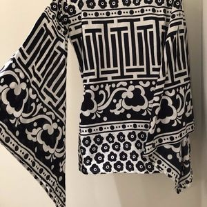 Virginia Witbeck Tunic Top Scarf Sleeve M